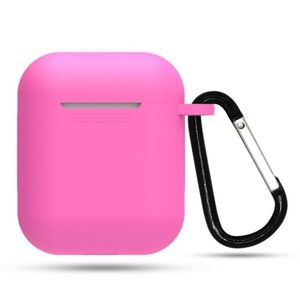 NEW Apple Airpods Protective Silicone Case W/Hook